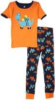 Petit Lem Dino 2 Piece Pajamas (Toddler/Kid) - Orange-5