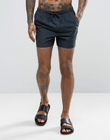 French Connection Swim Shorts with Dot Print