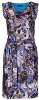 Banana Republic Floral Cowl-Neck Tie-Waist Sheath Dress