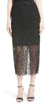 Diane von Furstenberg Women's Lace Overlay Pencil Skirt