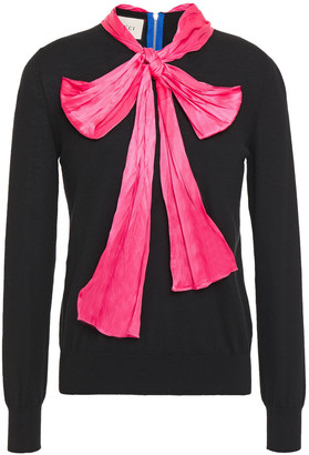 Gucci Pussy-bow Cashmere And Silk-blend Sweater