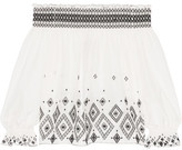 Rachel Zoe Off-the-shoulder Embroidered Silk And Cotton-blend Top - Ivory