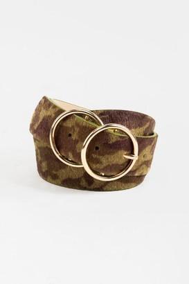 francesca's Kenya Double Circle Belt - Olive