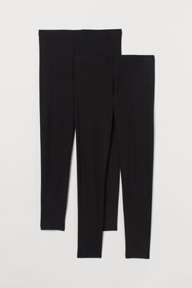 H&M H&M+ 2-pack Jersey Leggings - Black