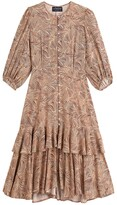 Thumbnail for your product : Soeur X La Redoute Collections Tiered Animal Print Dress