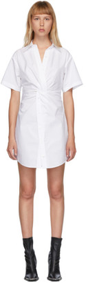 Alexander Wang White Crisp Poplin Twist Short Dress