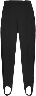 Ellery Cassandra Lace-trimmed Cady Tapered Stirrup Pants