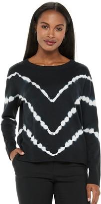 Apt. 9 Women's Cotton Tie-Dye Crewneck Pullover