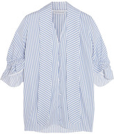 J.W.Anderson Ruffled Striped Cotton Shirt - Blue