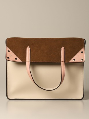 Fendi Flip Tote Bag In Leather And Suede With Ff Shoulder Strap
