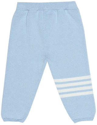 Thom Browne Kids Baby cashmere trackpants