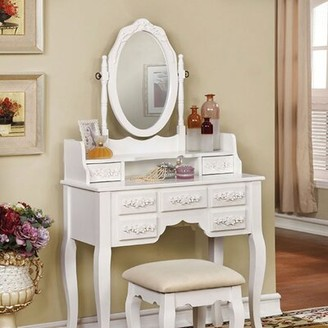 Fabrizio Traditional Vanity Set House of Hampton Color: White