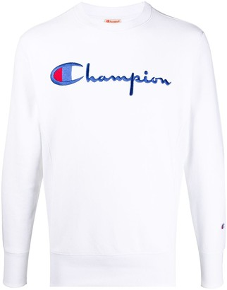 Champion Embroidered Logo Crew-Neck Sweatshirt