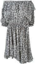 Faith Connexion leopard print off shoulder dress - women - Silk - S