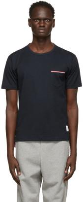 Thom Browne Navy RWB Stripe Pocket T-Shirt