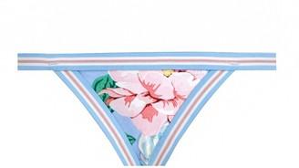 Zimmermann Bellitude Elastic Bikini Bottom in Cornflower Floral