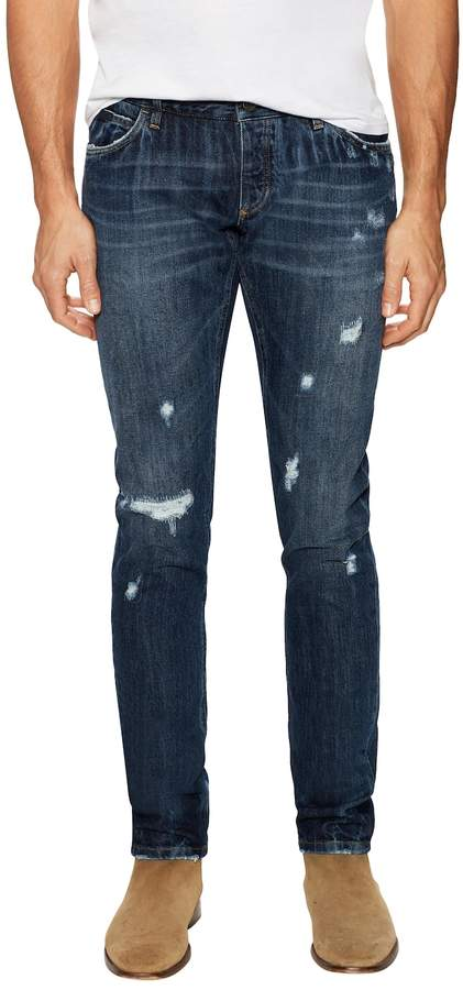 Dolce & Gabbana Men's Distressed & Whiskered Jeans