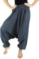 CandyHusky 100% Striped Cotton Baggy Boho Hippie Yoga Harem Pants