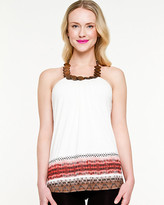 Le Château Knit Tribal Print Halter Top