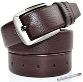 """Romanee-Conti Mens Leather Belt With Nickel Free Buckle & 1.4""""wide"""