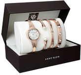Anne Klein AK2372RGST Four-Piece Watch and Bracelet Set
