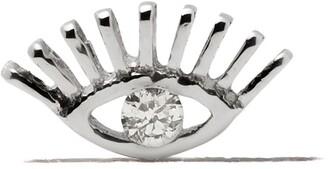 Kismet by Milka 14kt white gold Evil Eye diamond stud earring