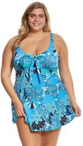 Penbrooke Plus Size Shell A GoGo Swimdress - 8150468