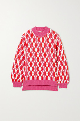 Stine Goya Anders Cable-knit Wool-blend Sweater - Pink