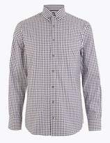 M&S CollectionMarks and Spencer Tailored Fit Gingham Easy to Iron Shirt