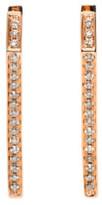 Eva Fehren Rose Gold Diamond Dagger Huggies Earrings