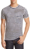 7 For All Mankind Tie Dyed Striped Tee