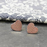 Anna Lou of London 'Happily Ever After' Heart Studs