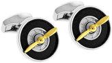 Tateossian Tri-Tone Rotating Propeller Cufflinks, Black