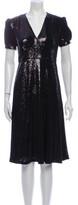 Thumbnail for your product : HVN V-Neck Midi Length Dress w/ Tags Black