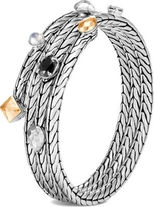 John Hardy Classic Chain Hammered Triple Row Coil Bracelet