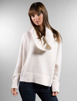 Oversized Cowl Sweater in Ivory