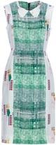 Peter Jensen collar check print dress
