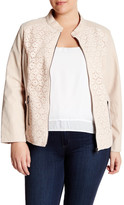 Live A Little Lace & Faux Leather Jacket (Plus Size)