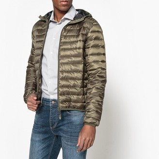 La Redoute Collections Hooded Padded Jacket with Camouflage Print Lining