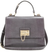 Dolce & Gabbana Monica Embossed Leather Shoulder Bag