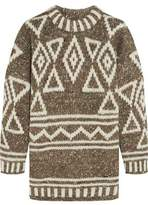 J.Crew Intarsia Merino Wool Alpaca And Silk-Blend Sweater