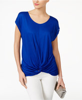 INC International Concepts Twist-Front T-Shirt, Only at Macy's