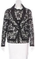Chanel Satin-Trimmed Lace Blazer Set