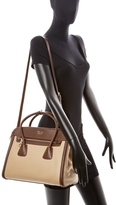 Prada Double Leather Zip Satchel