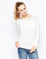 Daisy Street Raglan T-Shirt with Lace Inserts