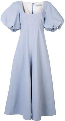 Lee Mathews Queenie puff sleeve maxi dress