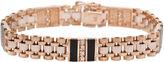 JCPenney FINE JEWELRY Mens 1/2 CT. T.W. Diamond & Onyx 14K Gold Link Bracelet