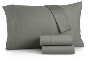 Martha Stewart Essentials Jersey 3-Pc. Twin Xl Sheet Set, Created for Macy's Bedding