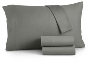 Martha Stewart Essentials Jersey 4-Pc. California King Sheet Set, Created for Macy's Bedding