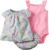 Carter's 3-pc. Short-Sleeve Floral Bodysuit Set - Baby Girls newborn-24m